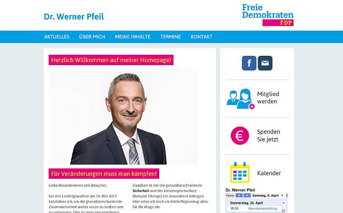 Homepage von Dr. Werner Pfeil