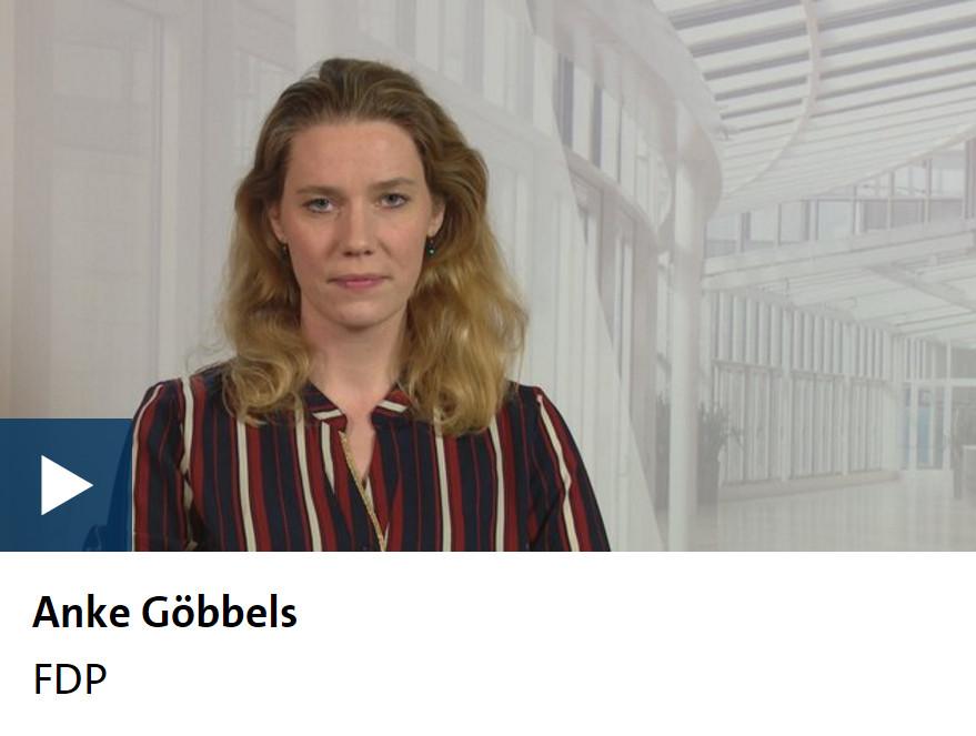 Anke Göbbels beim WDR-Kandidatencheck