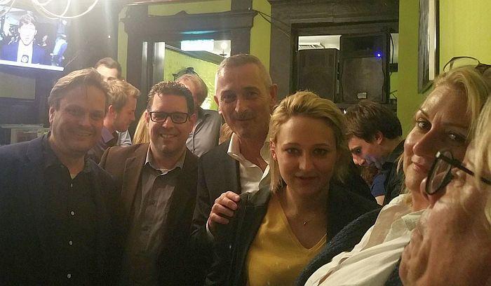 Wahlparty der Freien Demokraten im Goldenen Schwan in Aachen
