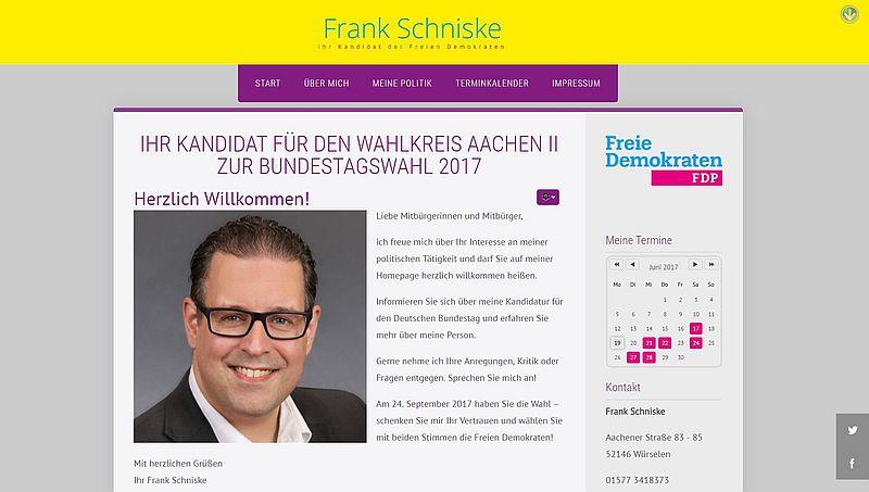 Homepage von Frank Schniske ist online