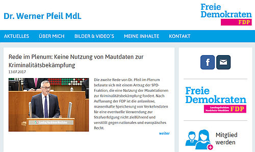 zur Homepage von Dr. Werner Pfeil MdL