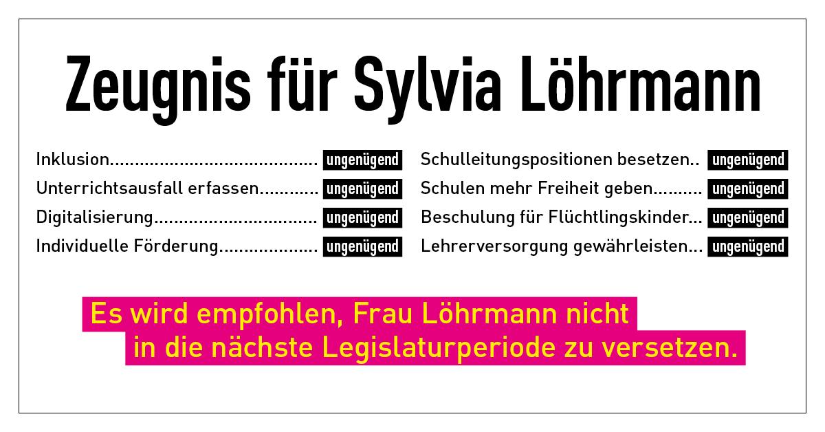 Zeugnis für Silvia Löhrmann